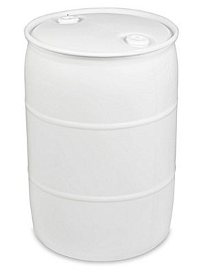 Plastic Drum - 55 Gallon, Closed Top, Natural S-10757NAT
