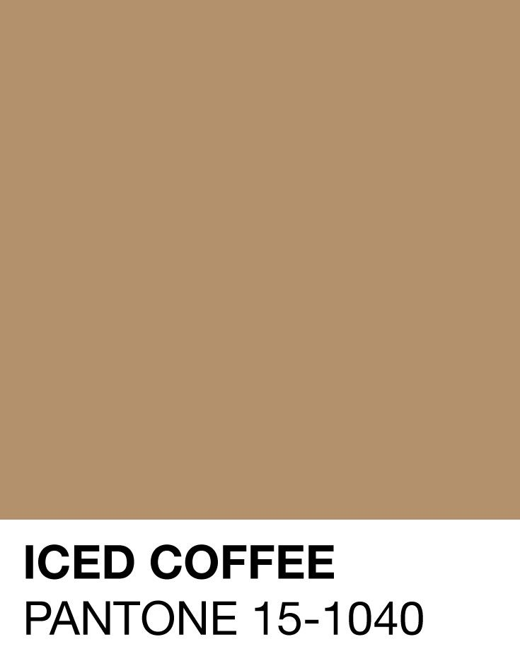Iced Coffee Pantone 15-1040 Spring/Summer 2016