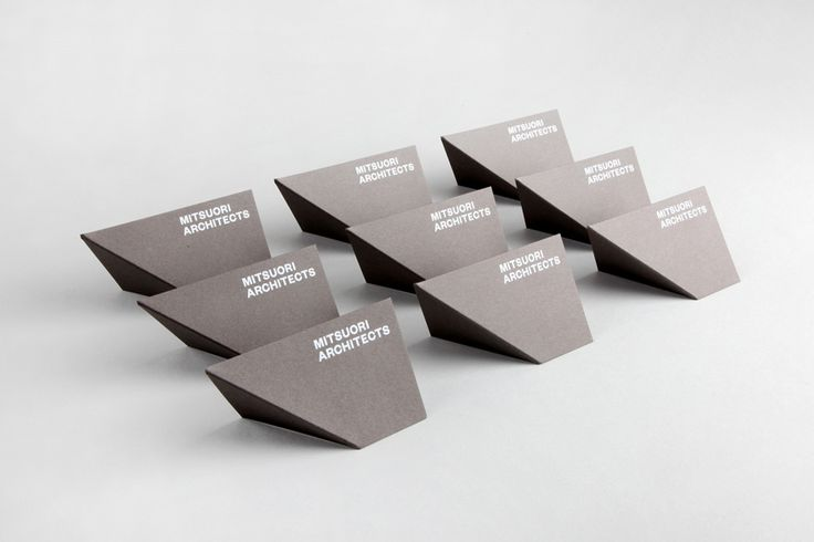 Logo and business cards designed by Hunt & Co. for Melbourne based architectural design studio Mitsuori Architects. Featured on bpando.org