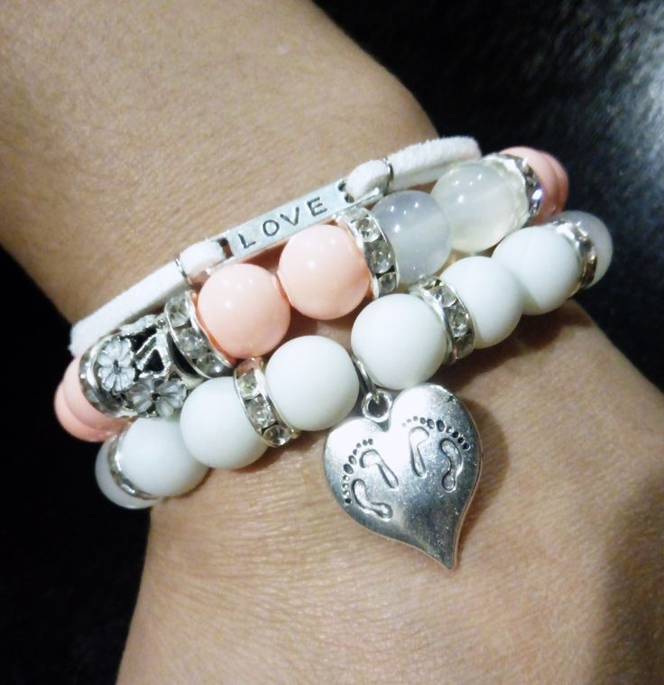 Heart bead / leather bracelet