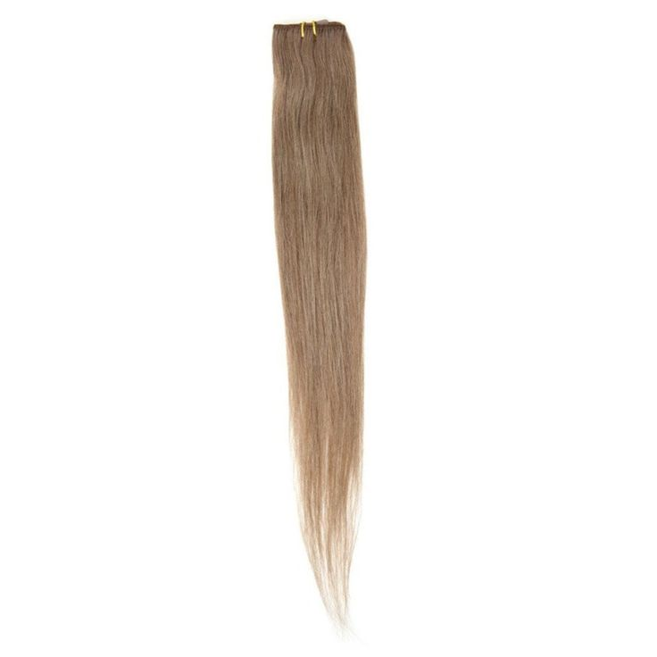 "American Pride Single Weft Clip in Hair 18"" Mousey Brown 8"
