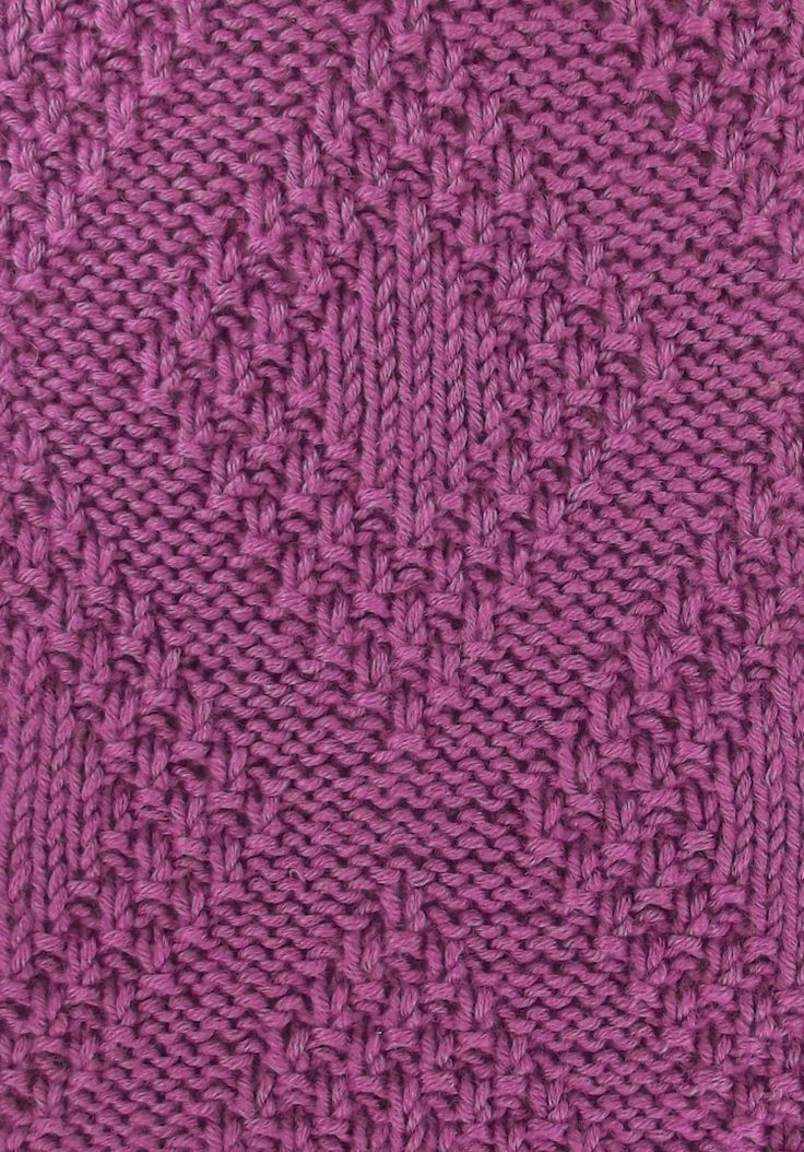 Moss Bordered Diamonds a versatile stitch; it's reversible. Found in both the Textured Stitches and Reversible Stitches categories.