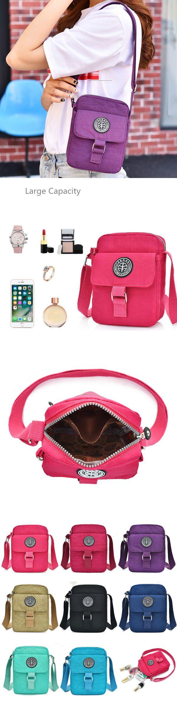 Women Nylon Colorful Messenger Bags Casual Shoulder Bags Outdoor Waterproof Crossbody Bags