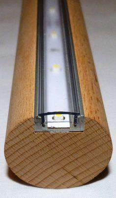 LED Handlauf Buche 1 Mtr ca. 60 SMD´s ( LED/SMD ) - gute Idee für dunkle Treppen in der Nacht