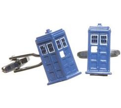 Blue Phone Booth Tardis Cufflinks...