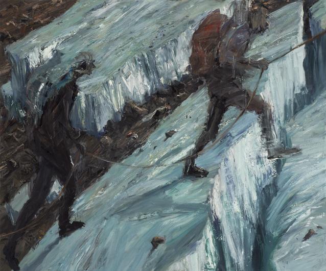 Euan Mcleod Stepping_across_crevasse.jpg   Watters Gallery
