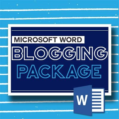 Word Blogging Package for Therapists. This product is a collection of Microsoft Word documents. The package contains quick and practical advice that can easily be implemented to help you start creating blog content immediately. https://arttherapyresources.com.au/shop/blog-package-word/