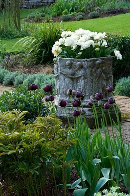 Beautiful Container Garden   Photo Clive Nichols Could Make Fountain Out Of  Container. Flower Planters ...