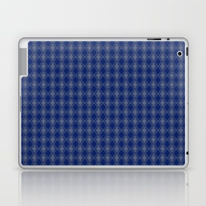 Skins are thin, easy-to-remove, vinyl decals for customizing your laptop . Skins are made from a patented material that eliminates air bubbles and wrinkles for easy application. blue, white, abstract, grid, pattern, design, computer generated, digital, society6, gifts, shopping, buy, sell, unique #artwork #abstract #darkblue #society6