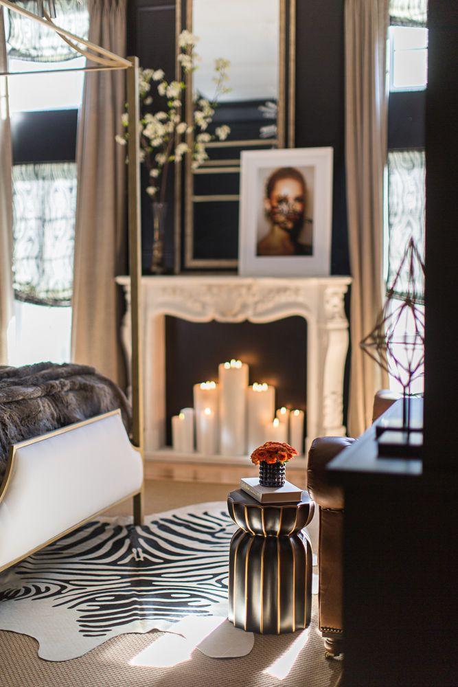fekete dekoráció, zebra szőnyeg