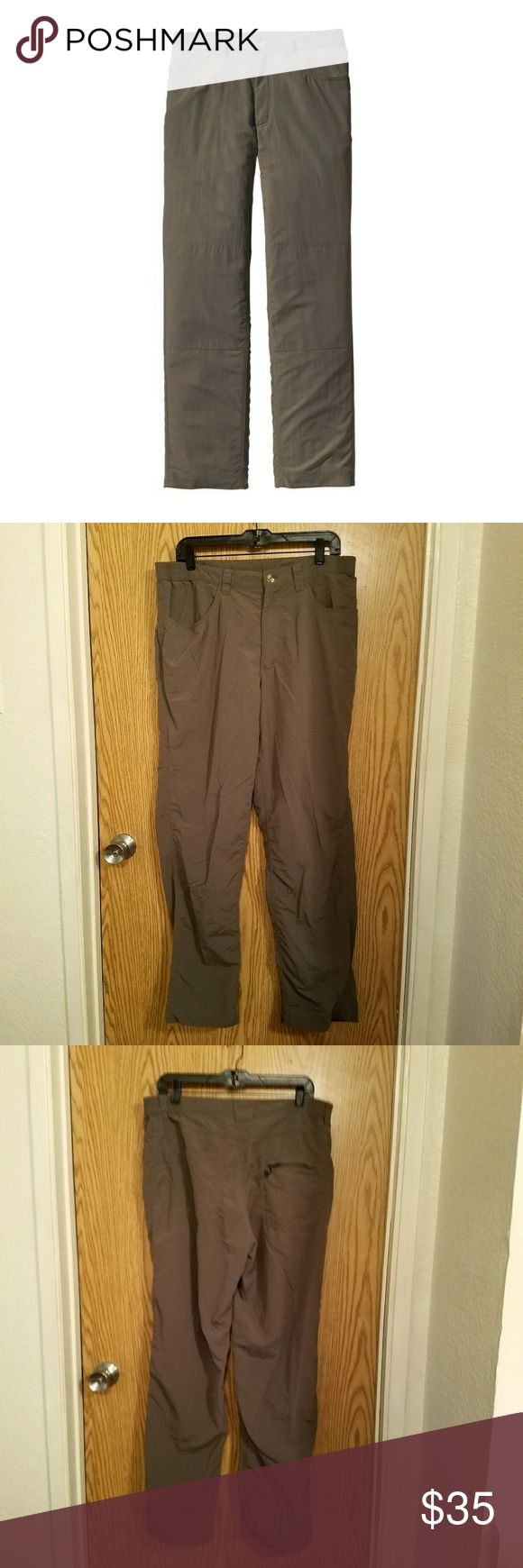 Men's Patagonia Home Waters pants. Made for fly fishing but great for hiking or even casual wear.  Color is stone and is the same as in first picture.  Button fly and partially elastic waistband. Excellent condition.  Color was hard to pick up on camera. Last two photos show the true color best. Patagonia Pants