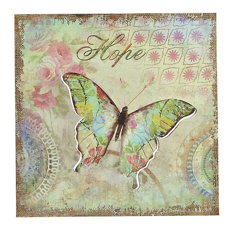 METAL WALL DECOR 3D BUTTERFLY 54X2Χ54