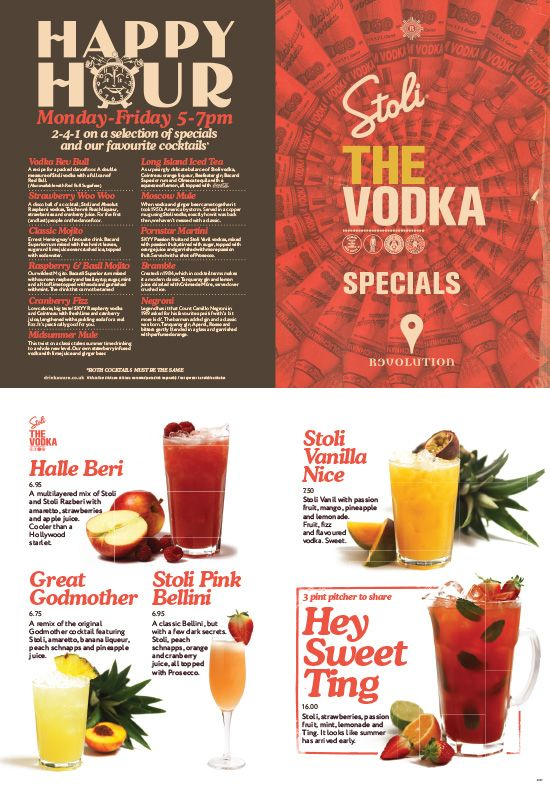 Vodka Menu, Graphic Design. Typography & Product Photography by www.diagramdesign.co.uk