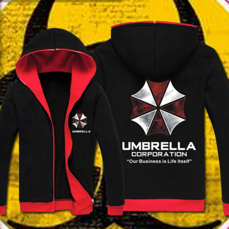 Resident Evil hoodie Cosplay Costume Hooded Jacket Coat Fashion Umbrella Corporation LOGO Unisex Hoodies Sweatshirt Biohazard