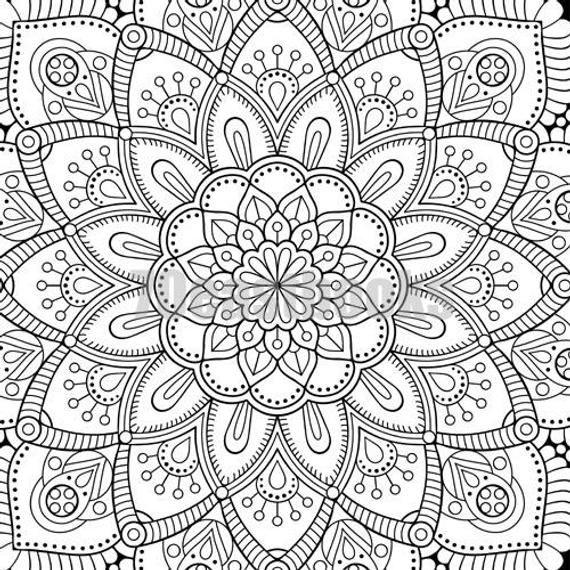 100 Mandala Coloring Book Korean Mandala Colouring Book Etsy Mandala Coloring Books Mandala Coloring Coloring Books