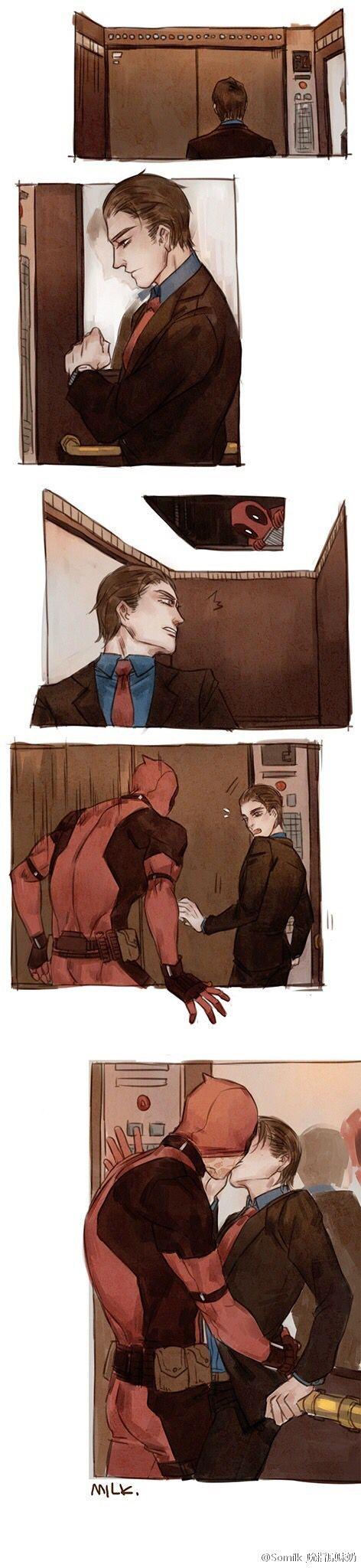 Peter no te vallas a trabajar sin tu beso de buena suerte ^^