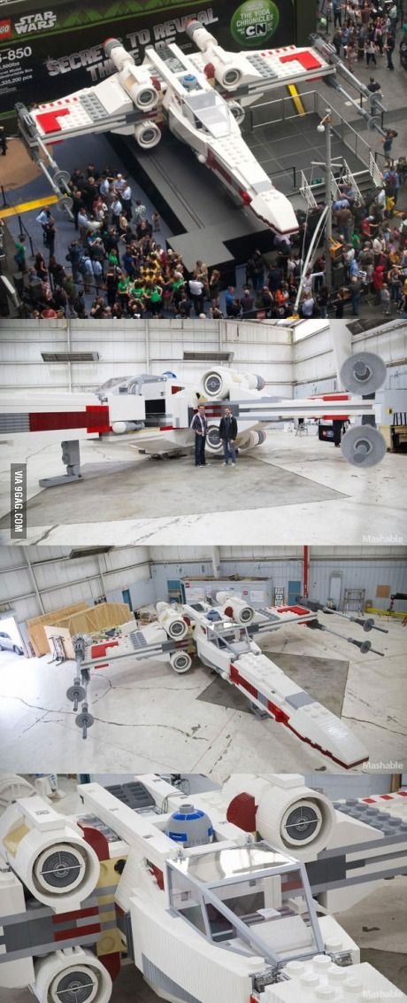 Life-Size X-Wing made with 5.3 Millions Lego pieces