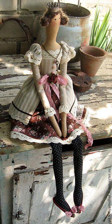 кукла тильда  купить тильду  тильда принцесса  принцесса  королева  корона  винтаж  шебби шик  декор интерьера  интерьерная кукла  подарок подруге