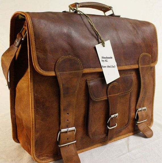 This is an amazing, well made and sturdy bag! Men and women both will LOVE IT!!     Leather Messenger Bag  16x12x5  Vintage Retro by creativeleather, $89.00