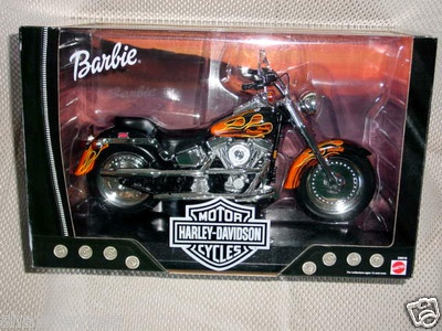 Barbie Harley Davidson Fat Boy Flames #2 Motorcycle ~ 2000 ~ MINT IN BOX! on eBay!
