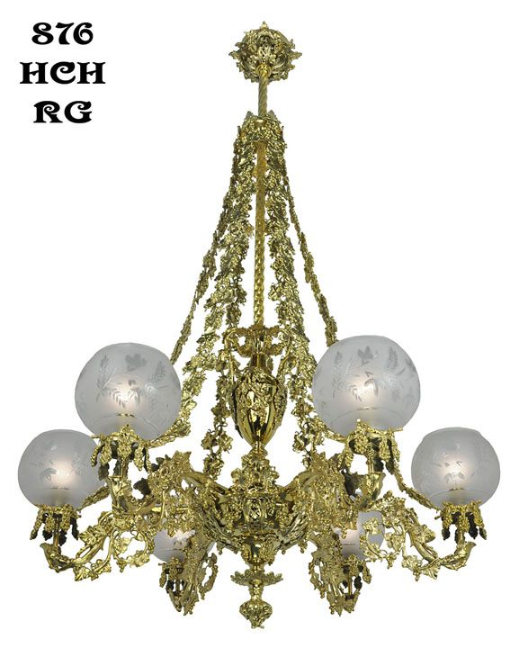 Vintage Gasolier Ceiling Light Reproduction Antique Gaslight Chandolier Is  Solid Brass And Has Exquisite Detail And