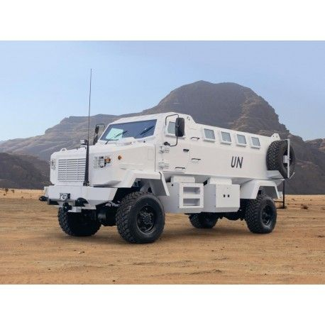 The KRAZ SHREK ONE is a mine resistant ambush protected vehicle (MRAPV). It was developed by Streit Group of Canada in partnership with AutoKrAZ of Ukraine. It is based on a KrAZ-5233 4x4 all-terrain military truck. The KRAZ SHREK ONE MRAPV 4x4 LHD armoured personnel vehicle is a rugged t for purpose and a ordable vehicle. The KRAZ SHREK is ideal for peacekeeping missions.