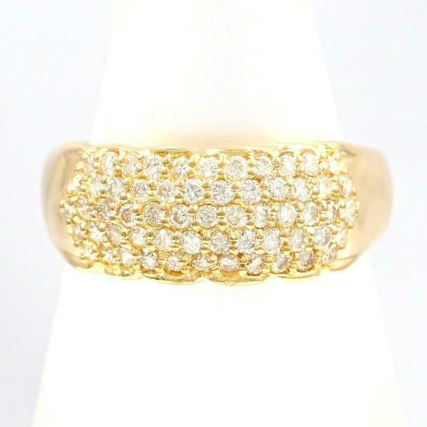a0ce07f10e36e eBay  Sponsored Jewelry 18K Yellow gold Ring 10.5Japan size Diamond 0.59 Free  shipping Used