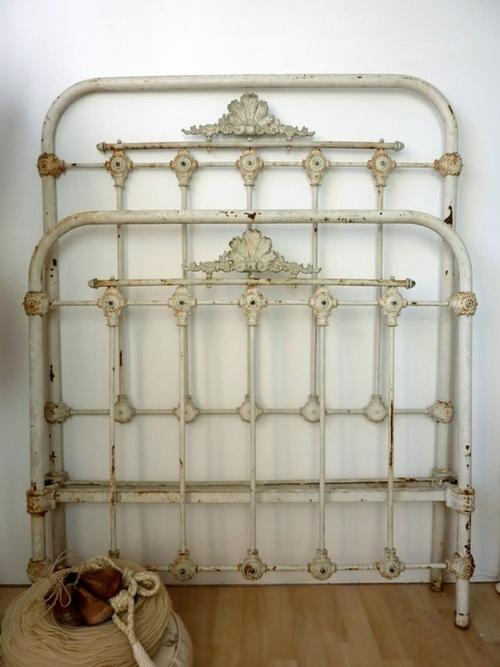 Antique iron bed.