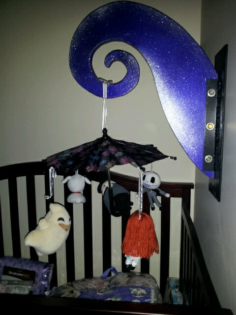 Hand made Nightmare Before Christmas baby mobile