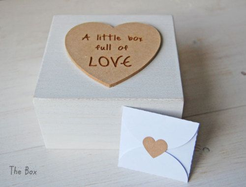 """""""A little box of Love"""" From Isabella and Louise  Lovely little wooden box that comes complete with mini notelets that you can write your own words on & seal for Valentine's Day & a cute little heart shaped lolly!  http://www.isabellaandlouise.co.uk/ourshop/prod_3670384-11cm-Box-A-little-box-full-of-LOVE.html"""