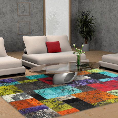 Multi Color Cow Hide Rug Interior Design Ideas