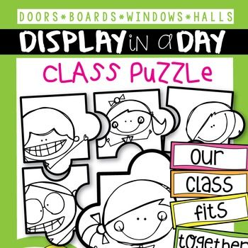 This set includes giant 'puzzle' pieces to make your classroom door and/or bulletin board come alive with a class collaboration!Display your students names as a bright and fun entry welcome to your room. Alternatively, you could use the pieces to decorate your windows, bulletin boards, hallway - anywhere!