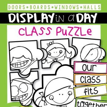 Puzzle Bulletin Board / Display Set