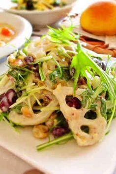 今日は和風洋風?蓮根とお豆のデリ風サラダ