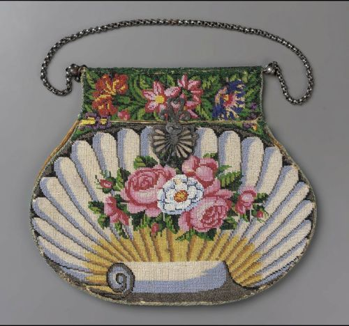 ~ Meticulous 'French' Hand Beaded Bag ~ (1810 To 1830) MFA Boston