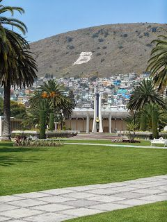 The mountain with the B for Benemeritos de los Americas
