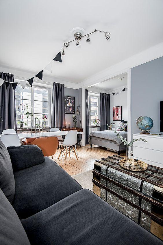 Contemporary Small Studio Apartment Design