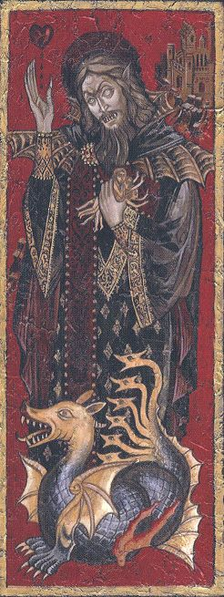 Dracula Iconography in a Byzantine style painting.                                                                                                                                                      More