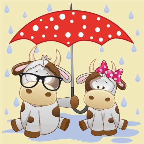 umbrellas.quenalbertini: Cute animals and umbrella cartoon vector (19)