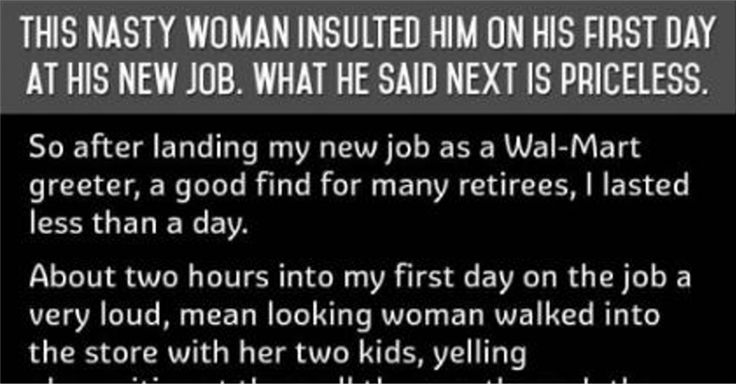 A Rude Woman Insulted Him On His First Day At His New Job. What He Said Next Is PRICELESS! | Diply