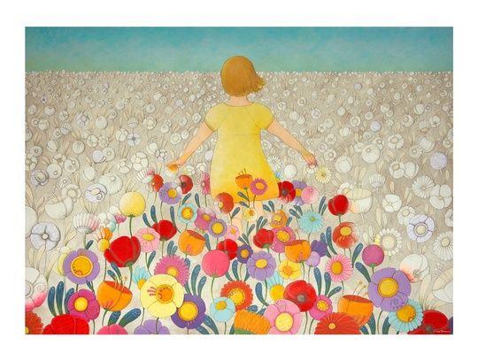 """""Millecolori"", thousandcolors"""" by cinzia mazzoni on #INPRNT - #illustration #print #poster #art"