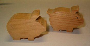 houten varkentjess te koop uit Fräncis' VarkensCollectie voor 3,98 euro - 2 stuks
