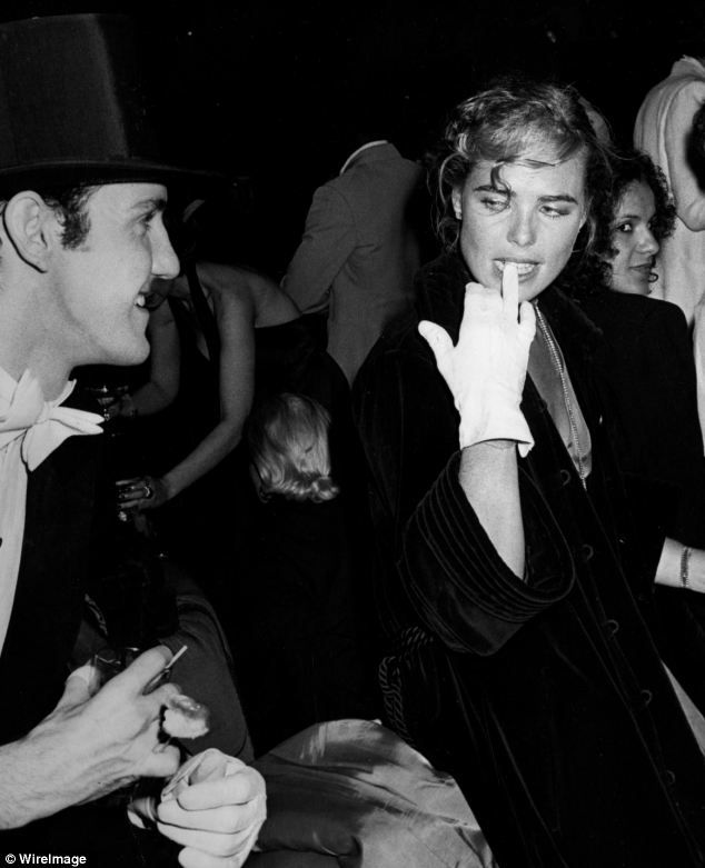 U.S. Actor Paul Bakers and actress Margaux Hemingway attend Coty Awards Party on September 28, 1978 at Studio 54, NYC.