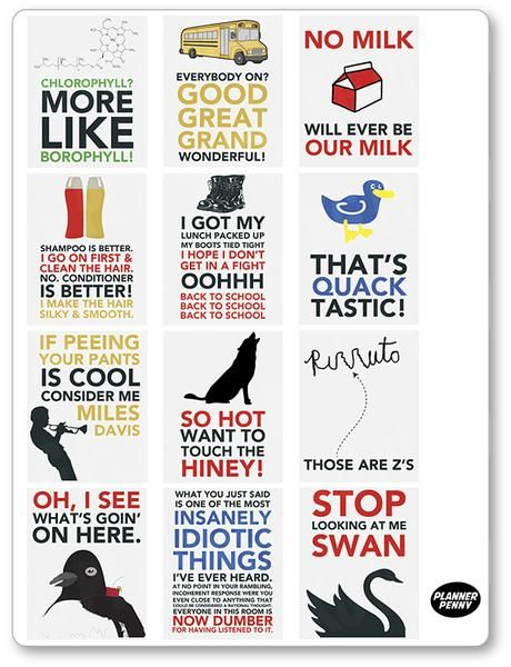 Billy Madison Quote Full Box Planner Stickers