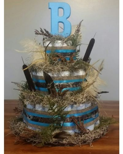 Personalized Camo Diaper Cake | CraftOutlet.com Photo Contest