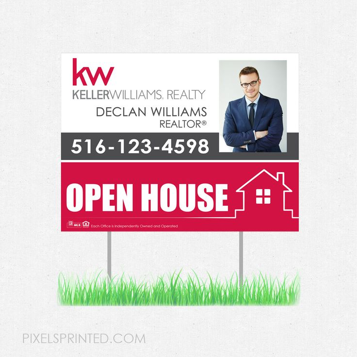 real estate yard signs, real estate lawn signs, realtor yard signs, realtor lawn signs, Keller Williams yard sign, Keller Williams lawn sign, KW yard sign, KW lawn sign