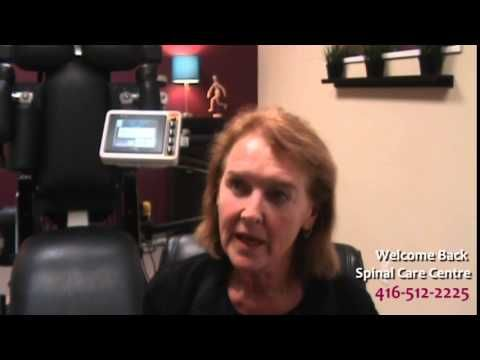 Louise Hoey Loader discusses her experience at Welcome Back Spinal Care Centre offering spinal decompression therapy in Toronto.