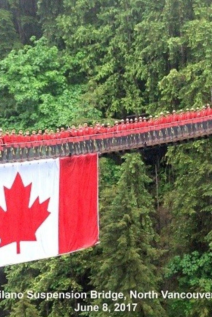 RCMP Celebrate Canada's 150th By Posing For Photo On Terrifying B.C. Suspension Bridge