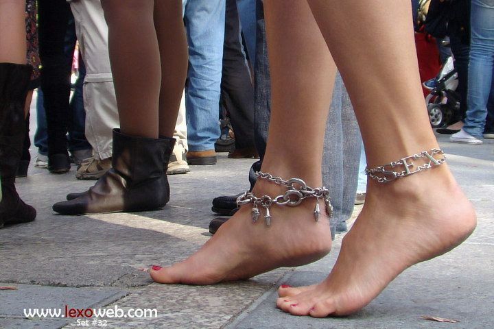 Barefoot in the crowd...