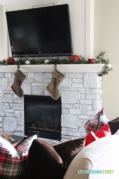 Christmas 2014 Home Tour   Life On Virginia Street   Living Room Mantle Part 53